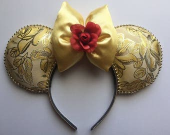 Disney Belle Beauty and the Beast Mickey Ears