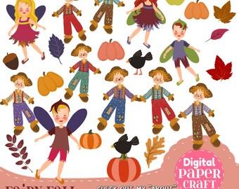 Fairy Clipart, Children Clipart, Fall Clipart, Fantasy clipart, Outdoor clipart, Clipart,  Faerie clipart, Nature Clipart, Scarecrow Clipart
