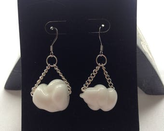 Glass Cloud Earrings
