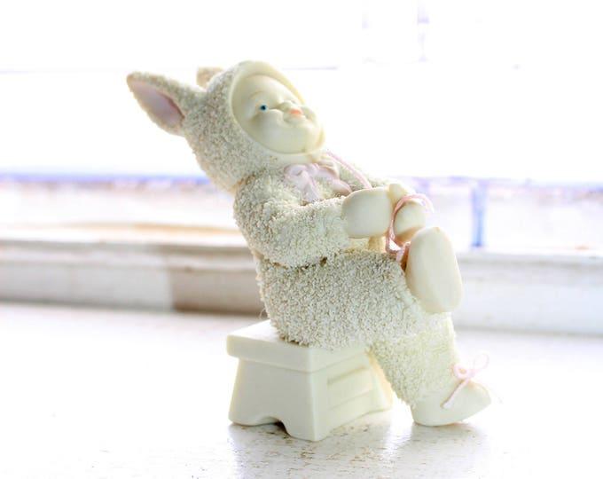 Dept 56 Snowbabies Figurine I Can Do It Myself Tying Shoe