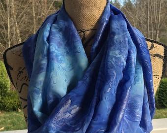 Infinity Scarf//Infinity//Scarf//Women's Scarf//Women's Fashion//Spring Fashion//Blue Scarf