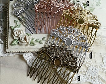54 mm x 40 mm Hand made Hair Comb Finding with Setting (t.sa)