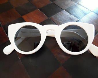 BUCH+DEICHMANN DENMARK . Style It Is! . Awesome Shades Sunglasses Designer White Retro Vintage Rare