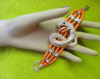 Funky Kitchy Rhinesone Snake Bracelet
