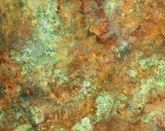 Hand Dyed Fabric, Ice Dyed Cotton Quilt Fabric, 1 Yard (MB) #139