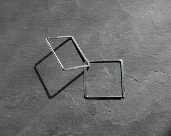 """One replacement* Small Square Hoop Earring 1"""""""