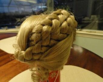D180)  Vintage Doll Blonde Hair Wig Ellen mini-world
