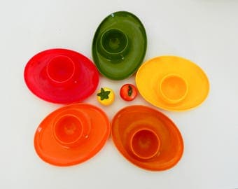 Mod Plastic Colorful Egg Cups