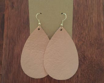 Sand Leather Earrings