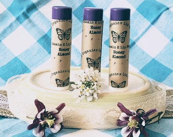Honey Almond Lip Balm, Almond Lip Balm, Honey Lip Balm, Chapstick, Natural Lip Balm, Organic Lip Balm, Natural Chapstick, Organic Chapstick