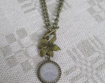 RECYCLED & RETIRED LITHUANIAN Coin Necklace, 1991