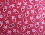Red Shweshwe Fabric, Clover and Shadows Shweshwe, Three Cats South African Fabric, Vibrant Red Fabric, Cotton Fat Quarter, red and white