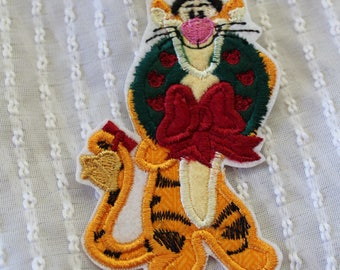READY to SHIP Christmas Tigger Inspired Iron on Appliqué Patch