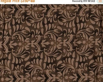 """ON SALE 108"""" Quiltbacking, Extra Wide Fabric, Floral Fabric, Brown Floral Fabric, Elegant Fabric, Brown Fabric, Westrade Collection, 00904"""