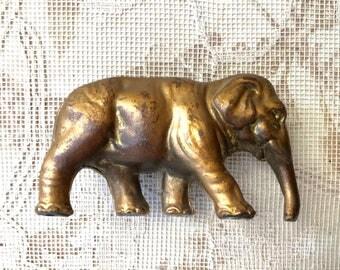 Heavy Vintage 1930's  Pot Metal Elephant