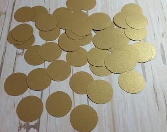 Gold Circle die cut confetti, Paper circle decoration, Wedding confetti, Birthday confetti, Party confetti Mix and Match