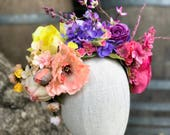 Flower Crown, Flower Headband, Flower Headpiece, Festival Crown, Floral Crown.