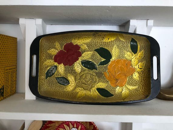 Decorative Tray - Floral Design