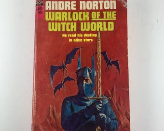 """Book, """"Warlock of the Witch World"""" by Andre Norton, 1967 Paperback"""