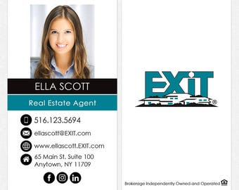 EXIT real estate business cards - thick, color both sides - FREE UPS ground shipping