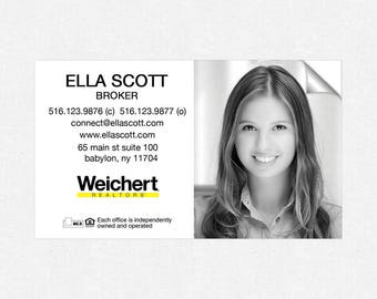 Weichert deluxe glossy stickers - business card size - high end - crack and peel - FREE UPS ground shipping