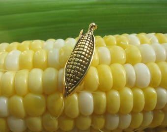 Gold Corn Lapel Pin-CC441G- Vegatable, Farming, Farmer, Farm, and Veggie Pins
