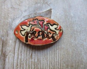 Peace  Bracelet Cuff Bracelet bead connector