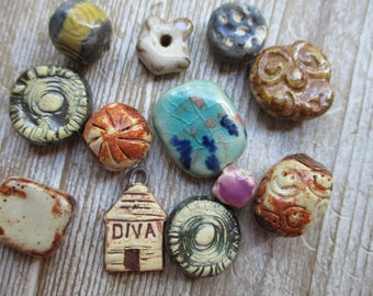 Ceramic Beads Grab Bag Everything in the picture