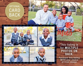 Optional MULTIPLE Photo Back Printable Christmas Card