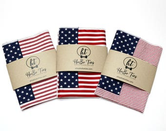 American Flag Pocket Square~Wedding Accessory~Anniversary Gift~Mens Pocket Square~Preppy Gift~Pocket Hankie~Mens Pocket Square~American Flag