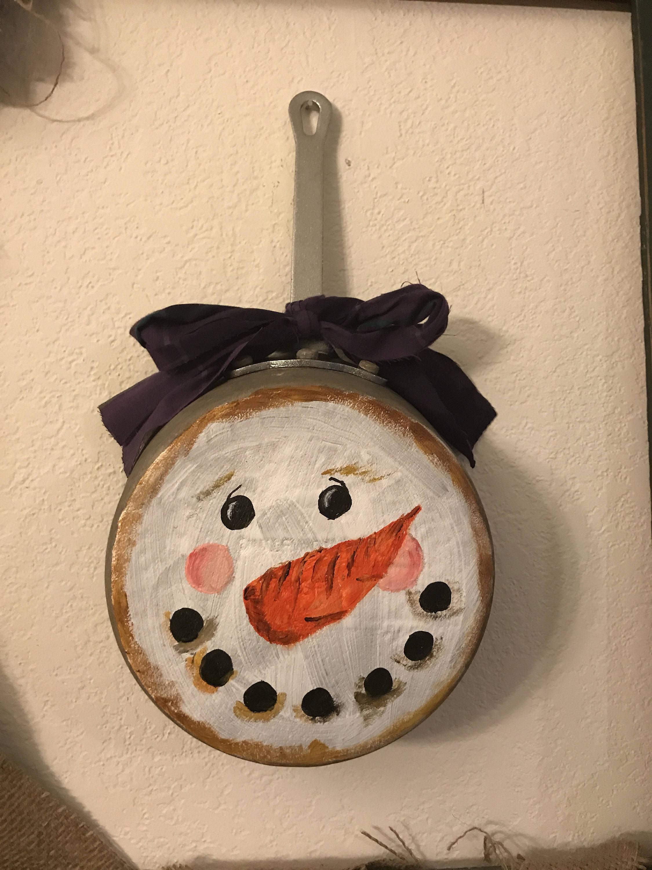 Handpainted Vintage Rustic Snowman