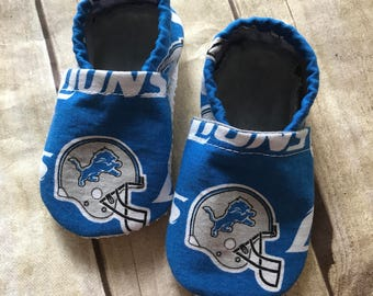 Detroit Lions Inspired Cloth Baby Booties