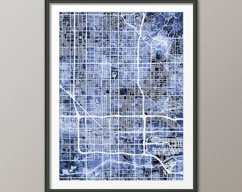 Phoenix Map, Phoenix Arizona City Map, Art Print (2996)