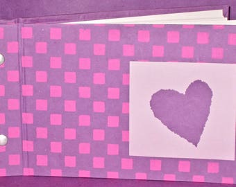 Photo/Guest Book - Pink & Purple paper covers