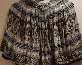 OIHANE Indian gauze mini skirt