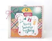 Summer Mini Album Kit or Premade Scrapbook Album Vacation Sun Beach Pool BBQ