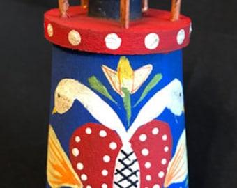 NEW - Swans Mini Lighthouse Birdhouse