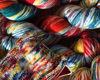 150g Skein Paintbox hand dyed Australian 4ply sock yarn