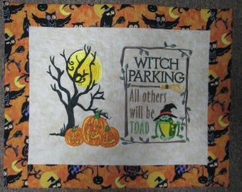 Witch Parking Scene Wallhanging