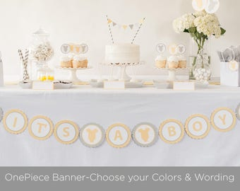 OnePiece Baby Shower Banner,  Customize Colors and Saying, Baby Shower Decorations