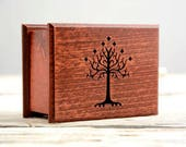 Lord of the Rings cover  handmade wooden music box - In Dream - White Tree of Gondor - Tolkien