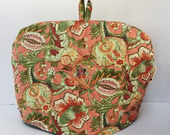 Coral Garden - Quilted Dome Tea Cozy with Trivet