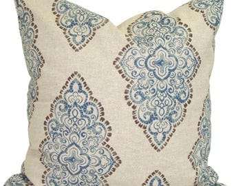 Pillow, Throw Pillow, Pillow Cover, Cushion, Decorative Pillow, Indigo Blue, Blue Pillow.Blue Toss. Damask, Medallion All Sizes, Cushion