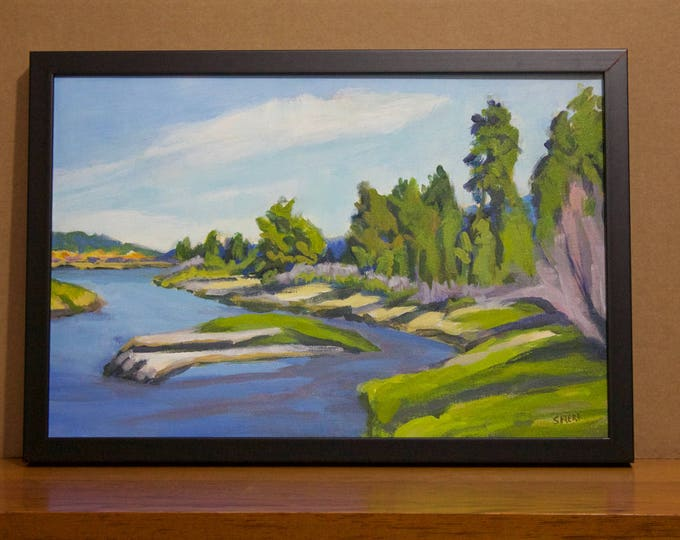 Oregon Landscape Painting Peaceful Place Odell Creek at East Davis Lake CG