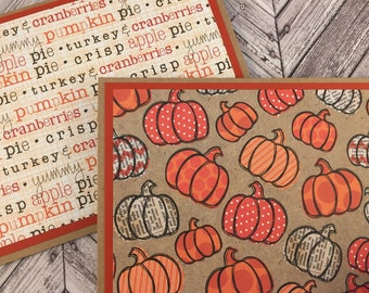 fall cards, autumn cards, harvest cards, pumpkin cards, thanksgiving cards, fall note cards, autumn note cards, pumpkin note cards, 4 cards