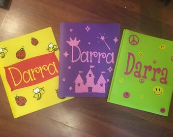 Personalized School Folders and Supplies