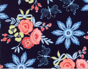 Bloomsbury Floral Garden Blooms Navy 47510 12 by  Franny Jane for Moda