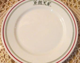 Vintage Warwick China Restaurant Ware Bread Plate Marked FMLC