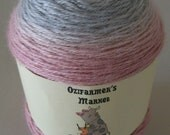 Rapture: 4ply Fingering Weight Baby Alpaca, Cashmere and Silk blend gradient dyed knitting yarn.  Colourway - Silver Rose