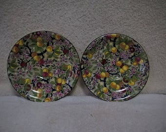 Crown Ducal Ware Chintz Saucers, set of 2